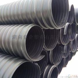 湖南株洲中财钢带增强管HDPE钢带管中财牌钢带管