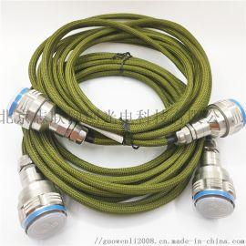 J599A8光电复合连接器 4光2电插头插座组件 不锈钢壳体防水连接器