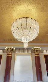 酒店,別墅大廳水晶圓形吊燈,水晶吊燈,LED吊燈