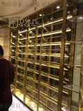 设计不锈钢酒架大型落地不锈钢酒架创意红酒架