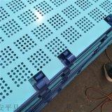 爬架網支持定做 噴塑藍色爬架衝孔網片建築鋼製安全網