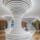 文化中心弧形包柱鋁單板 熱轉印木紋包柱鋁單板