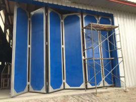 彩钢折叠门 大型工业折叠门 仓储折叠门