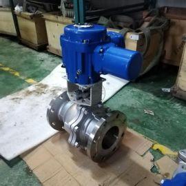 开关型不锈钢电动球阀Q941F-16P DN150