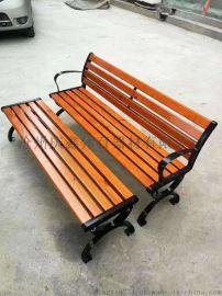 公园椅休闲座椅防腐木公园椅铸铁腿防腐木椅子沧州厂家