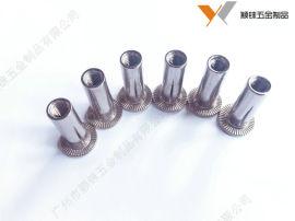 不锈钢镀锌碳钢灯笼铆螺母折叠开槽灯笼拉帽螺母M5M6M81/4-20 5/16-18