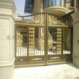 驻马店市遂平县黄铜色铝艺楼梯专业制造厂家