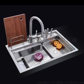 不锈钢双盆水槽
