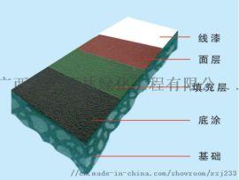 地坪装饰材料-  球场铺设硅pu地面