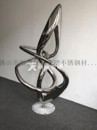 手工锻造抽象不锈钢雕塑售楼部前庭水池抽象不锈钢摆件