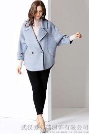 服装进货及服装走份的渠道朗文斯汀中长款双面羊绒呢