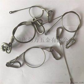 专业制作钢丝绳挂钩索具 防坠落安全绳 承重钢丝绳