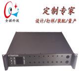 19寸2u鋁工控伺服器機箱,定製鋁機箱
