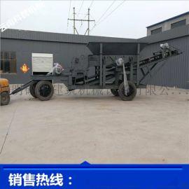 宜良建筑石子颚式破碎站 环保移动破碎站 移动式制砂机
