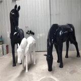 中山玻璃钢抽象动物雕塑、玻璃钢抽象马雕塑
