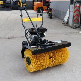 捷克1米滚刷扫雪机 斜角清扫器 手推清雪除雪设备