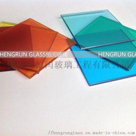 彩色夹胶玻璃彩色装饰玻璃