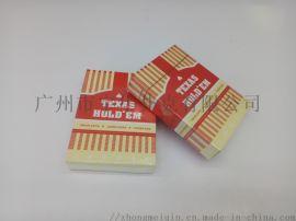 广州宇华德州进口黑芯扑克牌定制