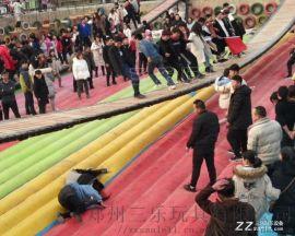 四川南充网红摇摆桥+充气垫子全年营业