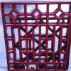 餐厅型材方管铝花格-仿木头型材铝花格