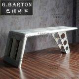 巴顿将军个性铝皮铆钉机翼办公桌LOFT工业风大班桌