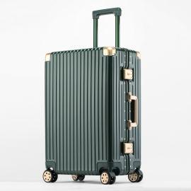 方振箱包厂家直销PC铝框金色包角拉杆箱行李箱