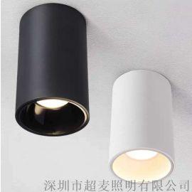 明装筒灯led  LED圆形天花灯  免打孔筒灯