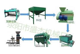 牛羊粪有机肥粉末肥生产线工艺流程