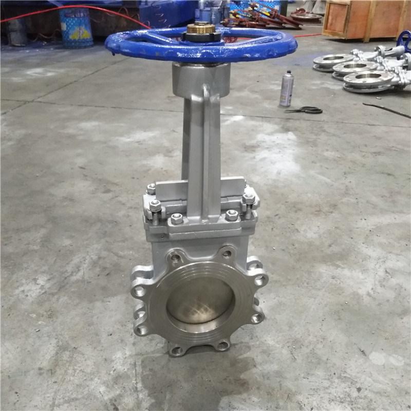 手动排渣闸阀 电厂除尘刀阀 明杆插板阀DN200