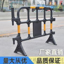深圳厂家塑料黑色胶马护栏围栏 施工隔离围栏