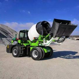 自动上料混凝土搅拌车 4方全自动小型商混搅拌运输车
