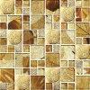 七彩水晶玻璃馬賽克電鍍手繪藝術金箔電視背景牆