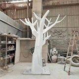 玻璃钢抽象树干雕塑商场美陈摆件