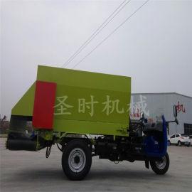 白山小型5立方柴油农用撒料车 自走式牛羊饲喂撒料车