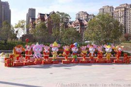 玻璃鋼雕塑定製生肖鼠年春節吉祥物卡通商場活動美陳戶外招財擺件
