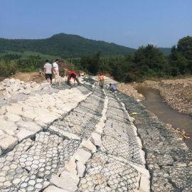 厂家现货高热镀锌石笼网 护岸固堤专用格宾网