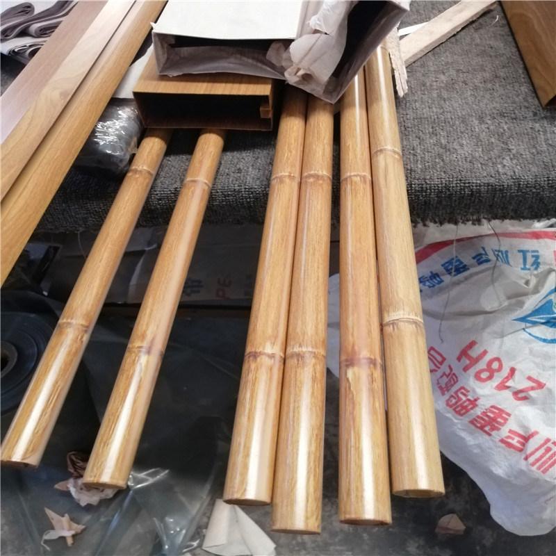 鹿邑县吊顶木纹铝合金圆管 鸡东县仿木纹金属铝圆管