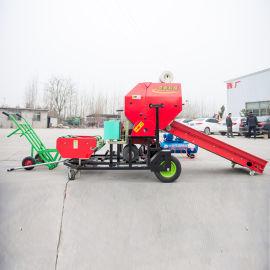 四川绵阳小型玉米杆打捆机 牧草包膜机生产厂家