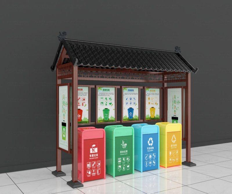 中国红学校垃圾分类亭生产厂家品质保证