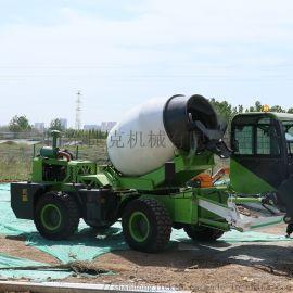 1.8方水泥搅拌车移动卸料 捷克全自动上料搅拌车