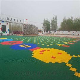 幼儿园双层方格拼装悬浮地板