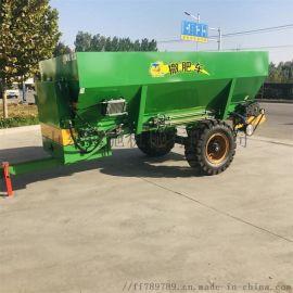 有机肥撒粪车 牵引式大型撒肥机 农田湿粪肥抛撒车