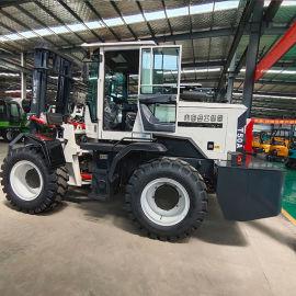 越野叉车新款 4吨柴油越野叉车 装载机式越野搬运车