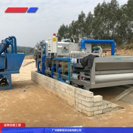 混凝土搅拌站泥浆污水处理设备,陶瓷污泥榨干机