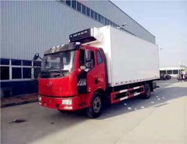 解放6.8米肉鉤冷藏車