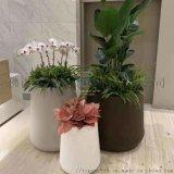 不鏽鋼花盆廠家 不鏽鋼拉絲花器 304戶外花箱
