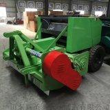自产自销全自动收割打捆机 拖拉机牵引粉碎收割打捆机