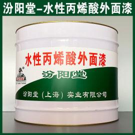 水性丙烯酸外面漆、防水,防漏,性能好
