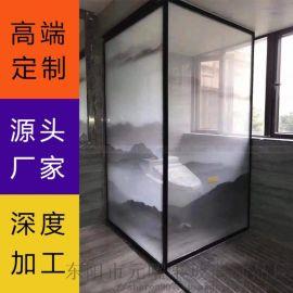 浙江玻璃厂直销夹胶钢化玻璃 大气背景墙夹层玻璃
