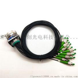J599/A8-16芯光缆组件 光纤插头光纤插座 可适配光缆车 防水连接器